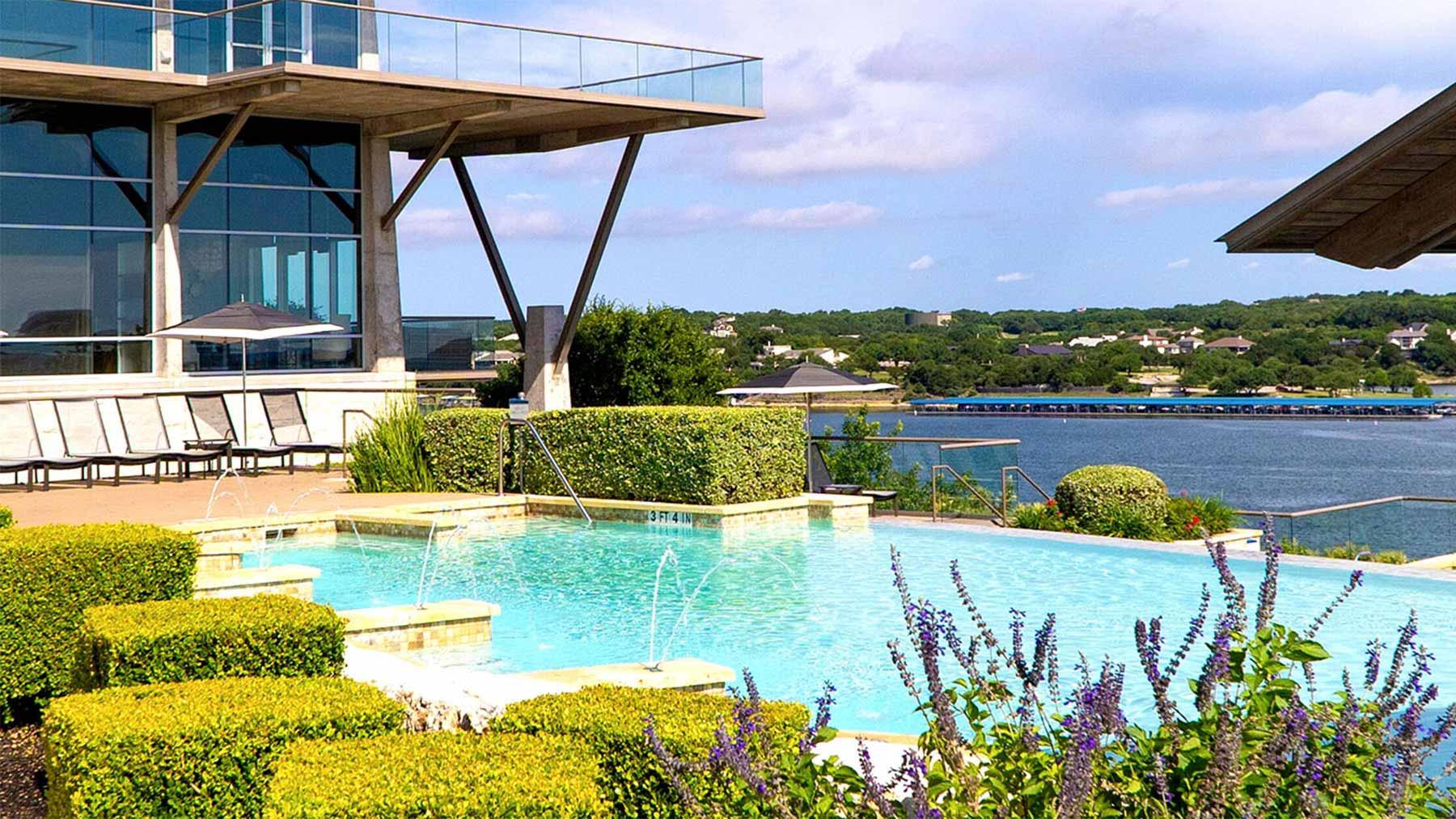 Adult infinity pool at lakeway resort and spa, lakeway